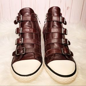 Ash Limited Thelma Leather Wedge Sneaker